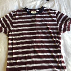 Striped burgundy and white shirt